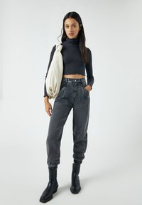 PULL&BEAR - Jeans baggy - mottled grey - 1