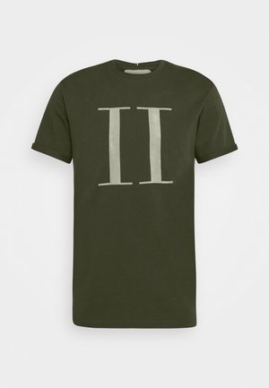 ENCORE  - Print T-shirt - deep forrest/sleet grey