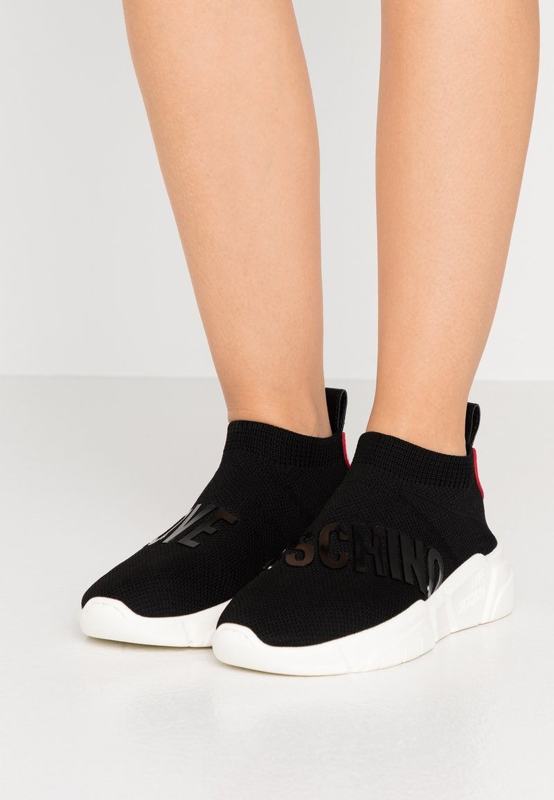 Love Moschino - LOVE SOCKS - Baskets montantes - black