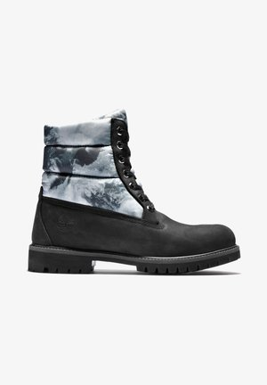 PREMIUM PUFFER - Lace-up ankle boots - pure black