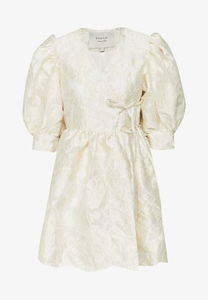 COWBOY KISSES MINI WRAP DRESS - Day dress - ivory