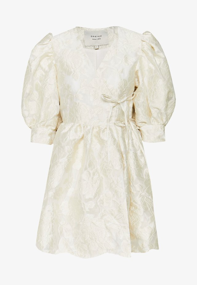 COWBOY KISSES MINI WRAP DRESS - Sukienka letnia - ivory