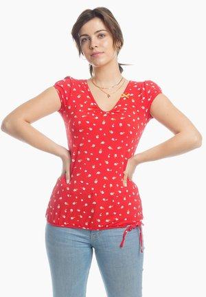 ILI  - Print T-shirt - red