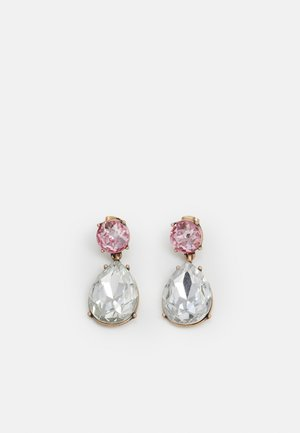 PCMAGDALENE EARRINGS - Boucles d'oreilles - gold-coloured/rose/clear