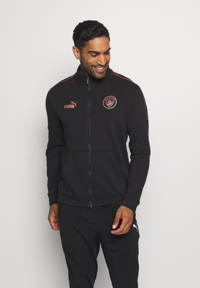 MANCHESTER CITY TRACK JACKET - Club wear - black/copper