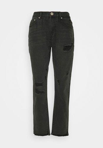 Džíny Straight Fit - washed black