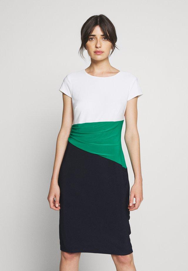 CLASSIC TONE DRESS - Pouzdrové šaty - navy/malachite