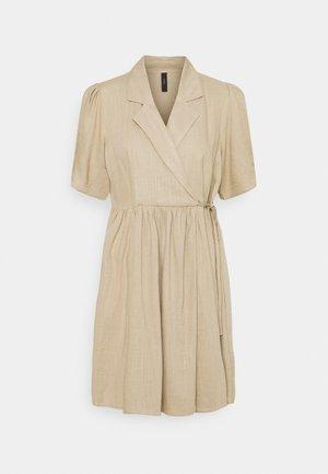 YASHIMINA WRAP DRESS - Day dress - humus