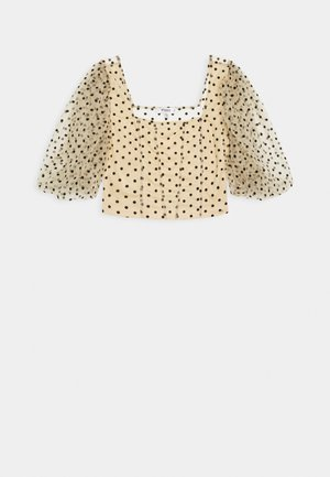 PUFF SLEEVE FITTED - Blouse - nude