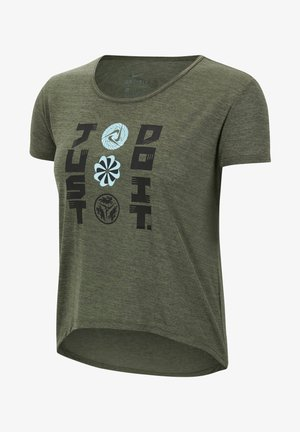 ICON CLASH - Print T-shirt - olive