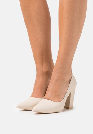 IMMORTAL BLOCK  - Classic heels - light beige