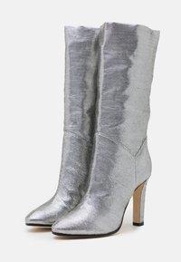 Alberta Ferretti - Kozačky na vysokém podpatku - dark grey - 2
