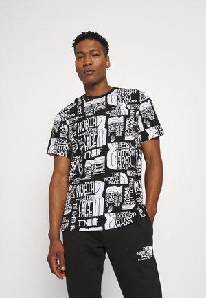 DISTORTED LOGO - T-shirt print - black