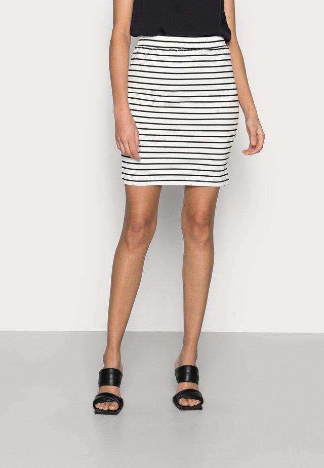 KAJO LIDDY SKIRT - Mini skirt - chalk/black