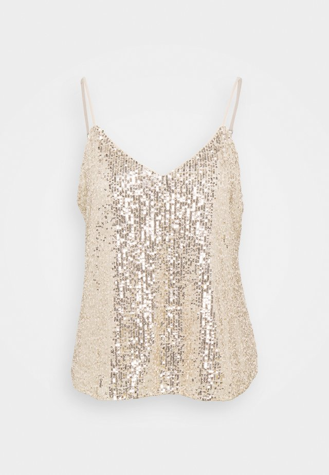 PERFECT CAMI SEQUINS - Toppi - champagne cocktail
