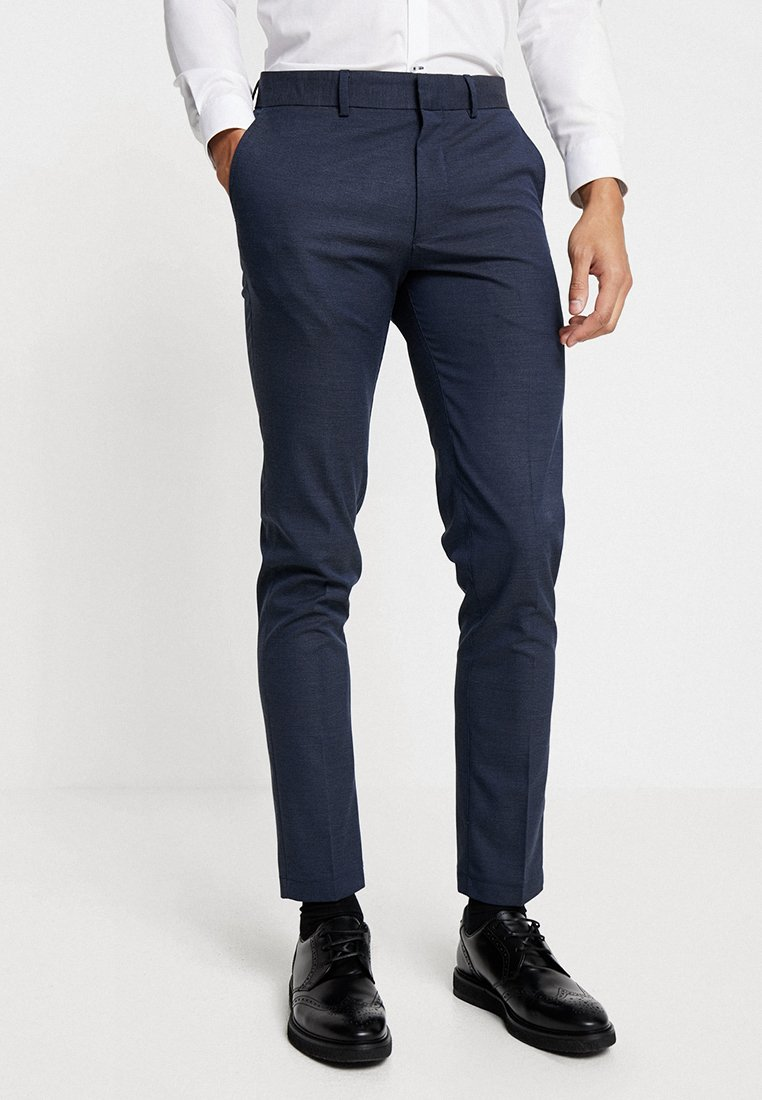 Uomo SLHSLIM MATHNOHR TROUSER - Pantaloni - dark blue/blue