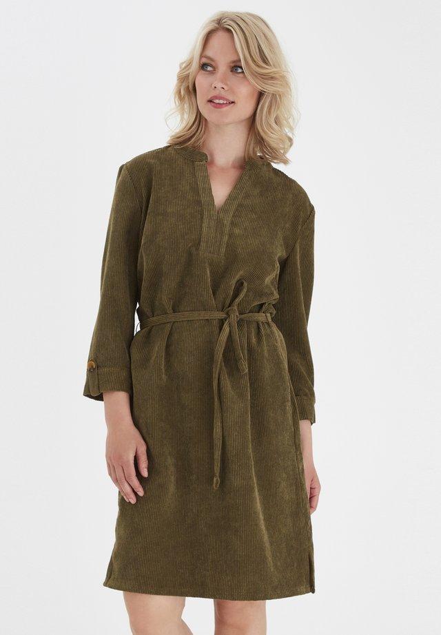 FRMACORDUROY  - Vestido informal - dark olive