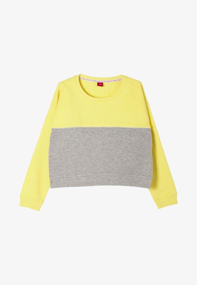 Sweater - yellow/grey melange
