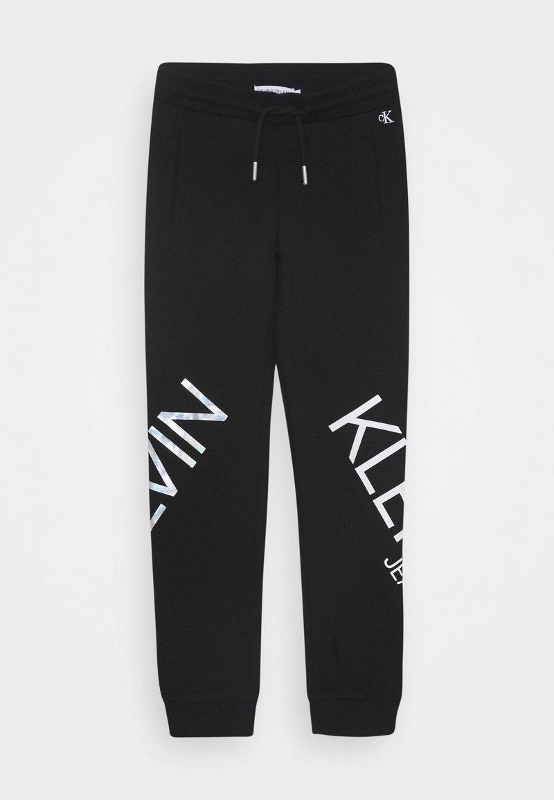 Calvin Klein Jeans - HERO LOGO - Teplákové kalhoty - black
