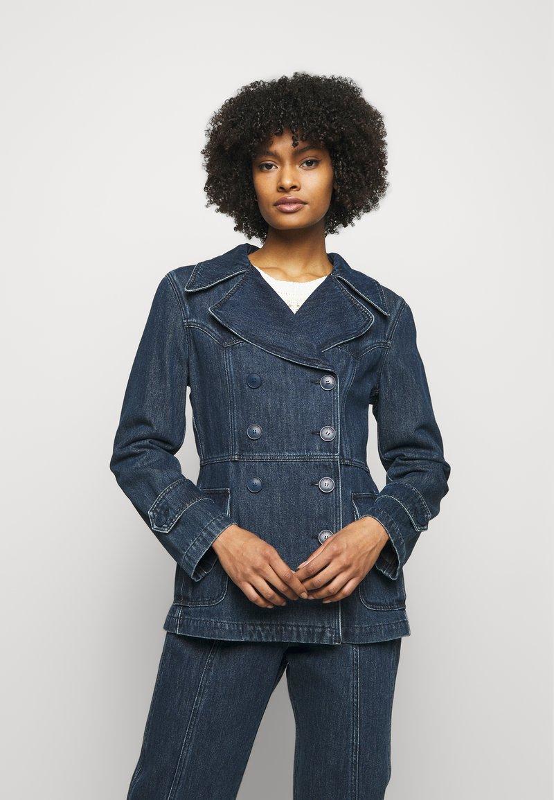 Alberta Ferretti - JACKET - Denim jacket - blue