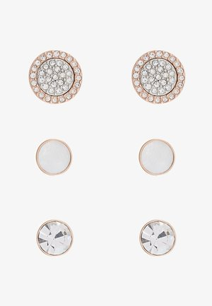 3PACK - Pendientes - silber/rosegold-coloured