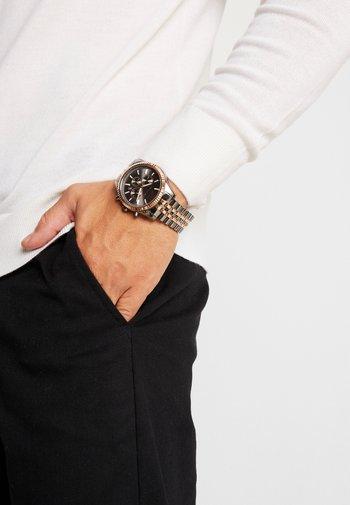 LEXINGTON - Chronograph watch - gunmetal/roségold-coloured