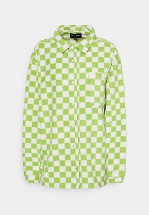 CHECKERBOARD - Fleecejakke - green