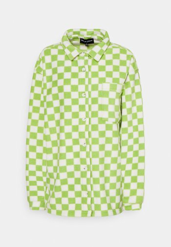 CHECKERBOARD - Fleece jacket - green