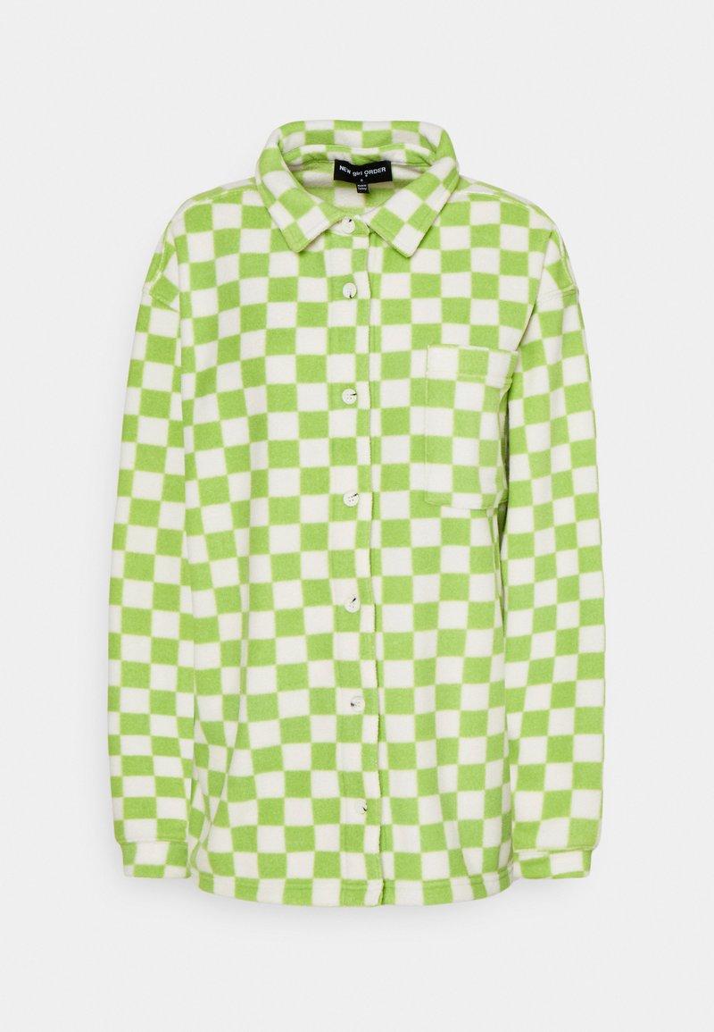 NEW girl ORDER - CHECKERBOARD - Veste polaire - green