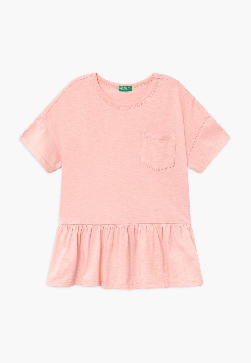 Benetton - Triko spotiskem - light pink