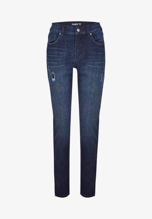 TAMA DESTROYED - Straight leg jeans - dark-blue denim