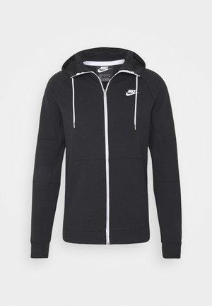 MODERN HOODIE - Zip-up hoodie - black/ice silver/white