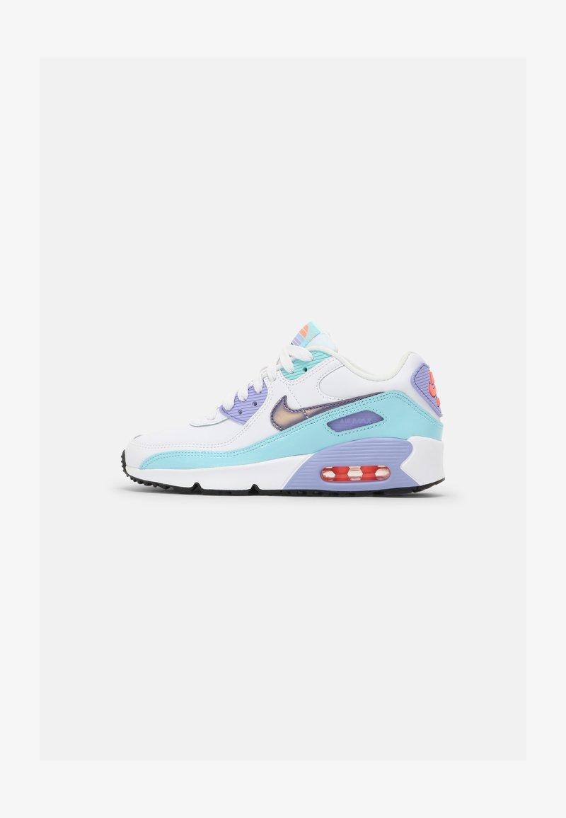 Nike Sportswear - AIR MAX 90 LTR SE 2 GS UNISEX - Sneakers laag - white/copa/dark purple/dust/light thistle
