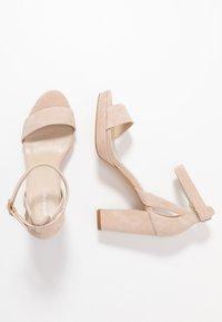 Anna Field - LEATHER HEELED SANDALS - Korolliset sandaalit - nude - 3