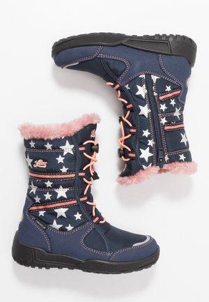 BRIANA - Botas para la nieve - marine/rosa