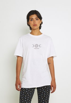 CELESTIAL SUN AND MOON  - T-shirt con stampa - white