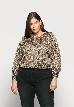Blouse - black/lulu old rose