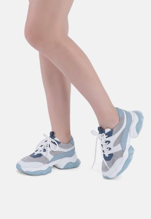 Trainers - light blue, grey, white