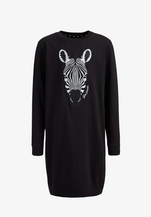 MET EMBROIDERY - Day dress - black