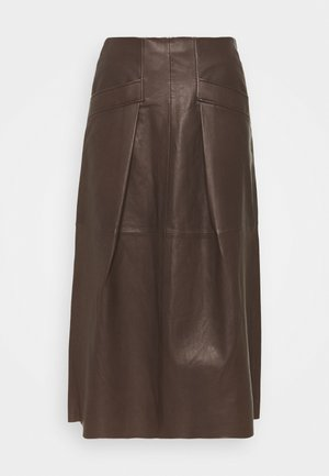 Kožená sukně - onyx brown