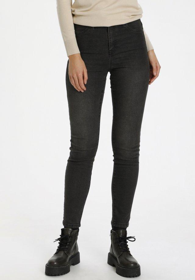 TINNASZ - Jeans Skinny Fit - dk.grey