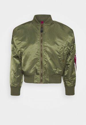 OS WMN - Bomber Jacket - sage green