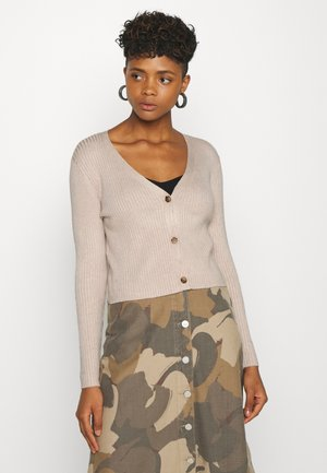 Cropped cardigan - Gilet - tan