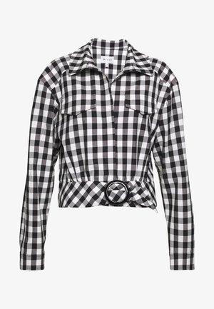 STRETCH GINGHAM BLAKE - Summer jacket - white/black