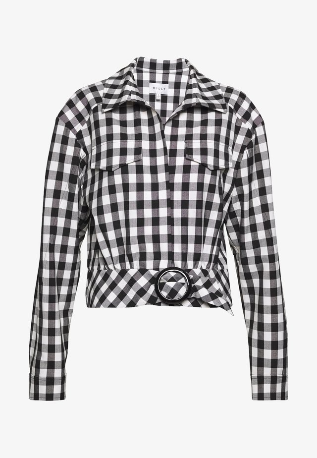 STRETCH GINGHAM BLAKE - Summer jacket - white/black
