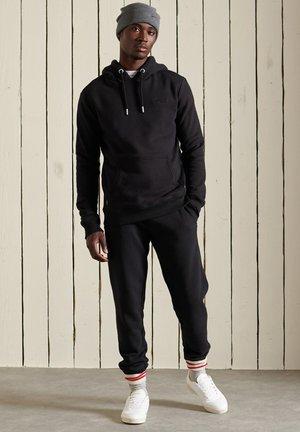 VINTAGE EMBROIDERED - Hoodie - black