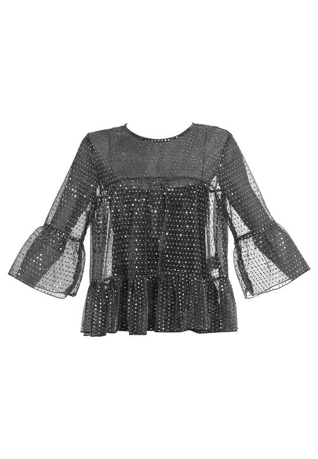 Bluzka - schwarz silber
