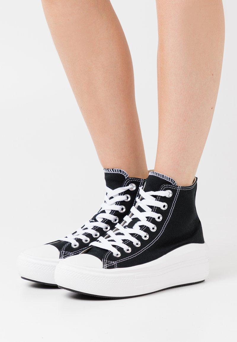 Converse - CHUCK TAYLOR ALL STAR MOVE - Sneakers alte - black/natural ivory/white