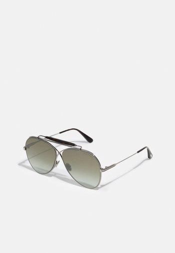 UNISEX - Occhiali da sole - shiny gunmetal/ brown mirror