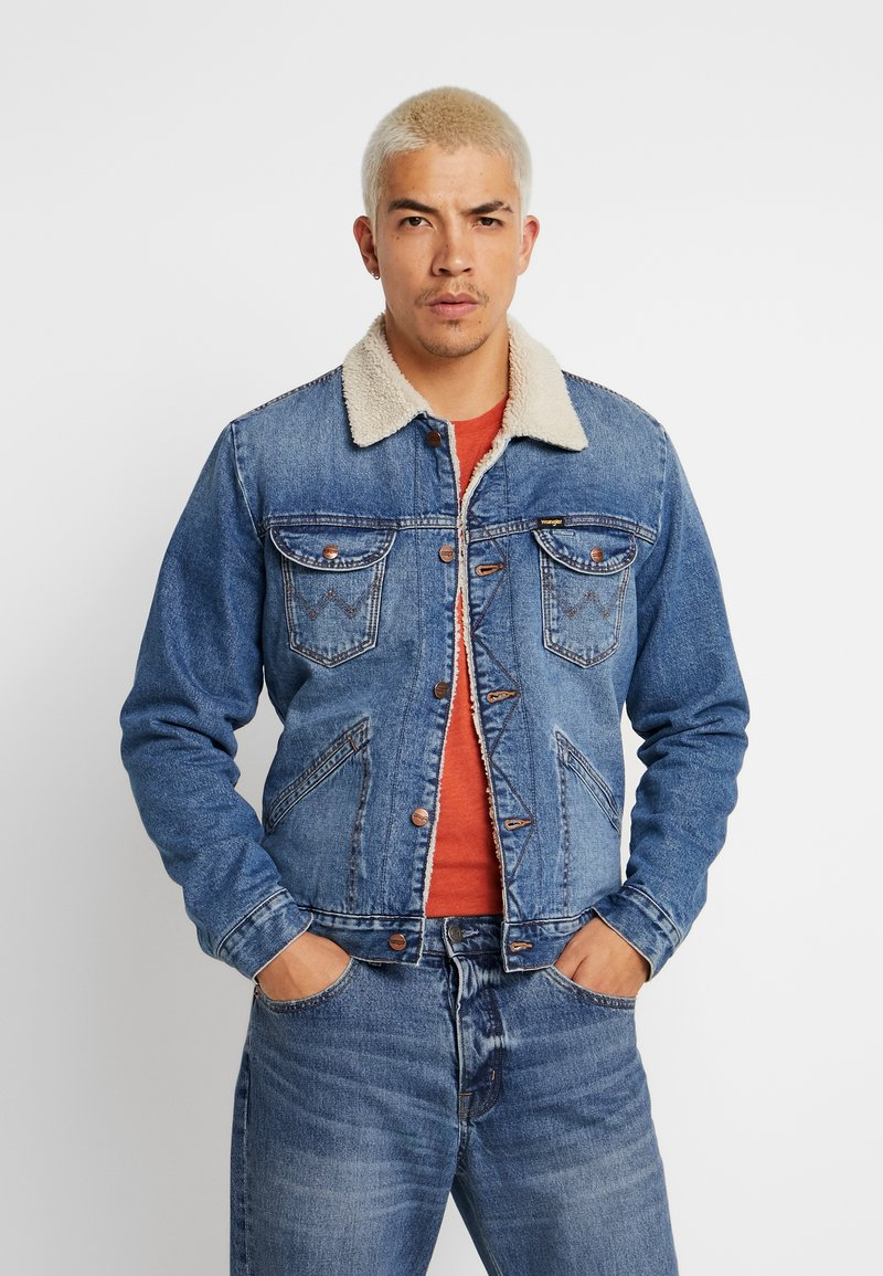Wrangler - SHERPA - Light jacket - blue denim